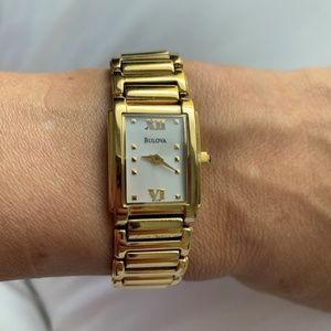 Bulova  Gold 97t79 Tone Dress Watch